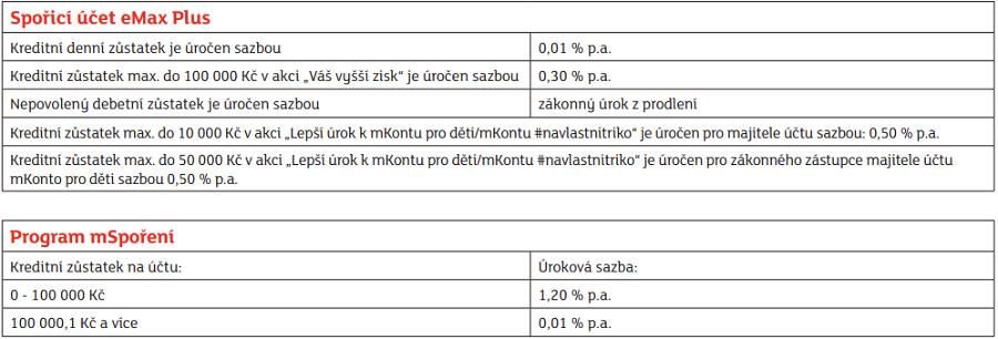 mBank spořící účty